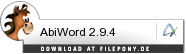 Download AbiWord bei Filepony.de