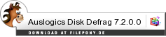 Download Auslogics Disk Defrag bei Filepony.de