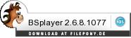 Download BSplayer bei Filepony.de