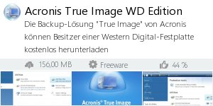 Infocard Acronis True Image WD Edition