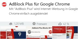 Infocard AdBlock Plus für Google Chrome