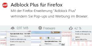 Infocard Adblock Plus für Firefox