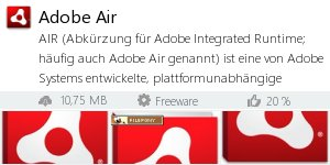Infocard Adobe Air