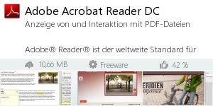 Infocard Adobe Acrobat Reader DC