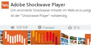 Infocard Adobe Shockwave Player