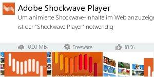 Infocard Adobe Shockwave Player