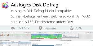 Infocard Auslogics Disk Defrag