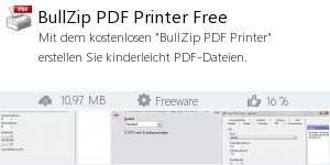 Infocard BullZip PDF Printer Free