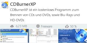 Infocard CDBurnerXP