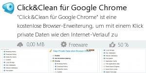 Infocard Click&Clean für Google Chrome