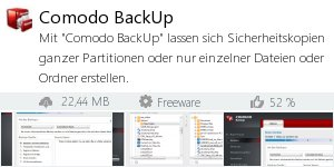 Infocard Comodo BackUp