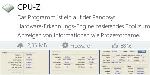 Download CPU-Z bei Filepony.de