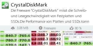 Infocard CrystalDiskMark