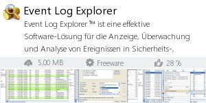 Infocard Event Log Explorer