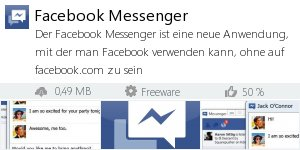 Infocard Facebook Messenger