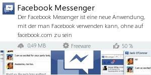 Infocard Facebook Messenger