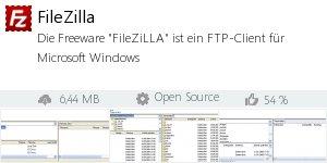 Infocard FileZilla