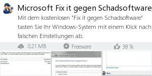 Infocard Microsoft Fix it gegen Schadsoftware