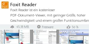 Infocard Foxit Reader
