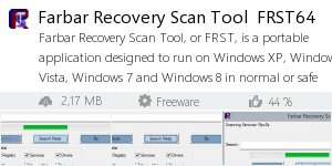 Infocard Farbar Recovery Scan Tool  FRST64