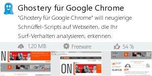 Infocard Ghostery für Google Chrome