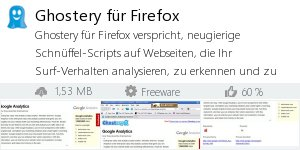 Infocard Ghostery für Firefox