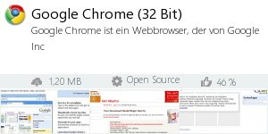 Infocard Google Chrome (32 Bit)