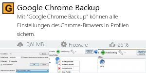 Infocard Google Chrome Backup