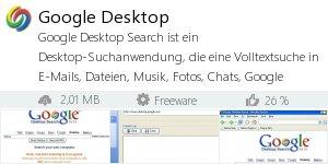Infocard Google Desktop