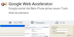 Infocard Google Web Accelerator