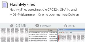 Infocard HashMyFiles