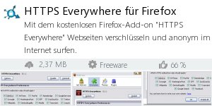 Infocard HTTPS Everywhere für Firefox