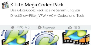 Infocard K-Lite Mega Codec Pack