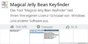 Infocard Magical Jelly Bean Keyfinder