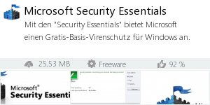 Infocard Microsoft Security Essentials