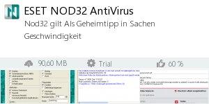 Infocard ESET NOD32 AntiVirus