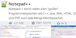 Infocard Notepad++