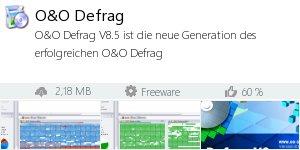 Infocard O&O Defrag