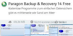 Infocard Paragon Backup & Recovery 14 Free