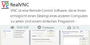 Infocard RealVNC