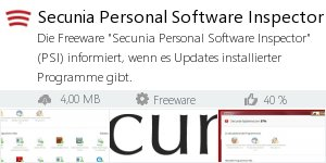 Infocard Secunia Personal Software Inspector (PSI)
