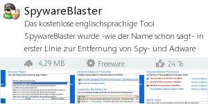 Infocard SpywareBlaster