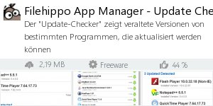 Infocard Filehippo App Manager - Update Checker