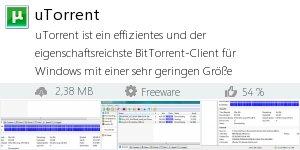 Infocard uTorrent