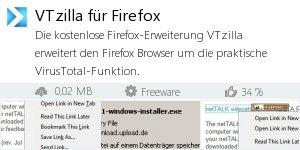 Infocard VTzilla für Firefox