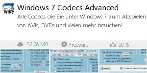 Infocard Windows 7 Codecs Advanced