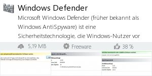 Infocard Windows Defender