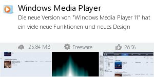 Infocard Windows Media Player