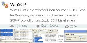 Infocard WinSCP