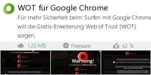 Infocard WOT für Google Chrome